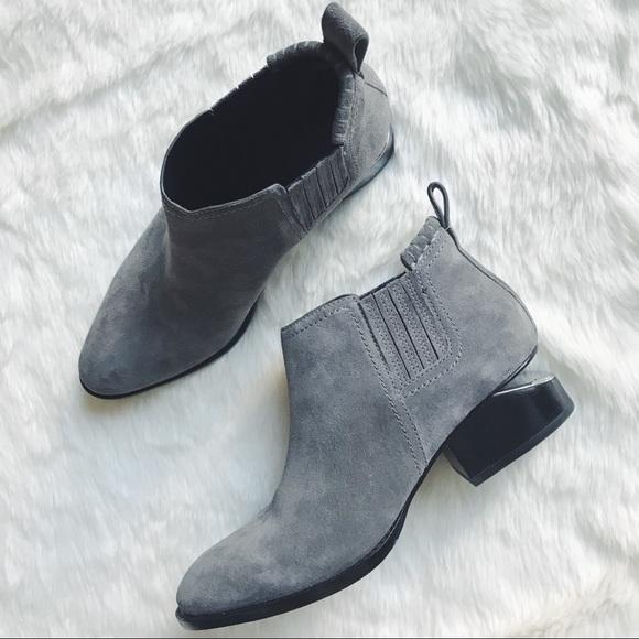 Alexander Grey Wang Shoes Mink Grey Alexander Suede Kori Boots Poshmark deb623